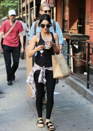 Vanessa Hudgens in Tights Out in NYC