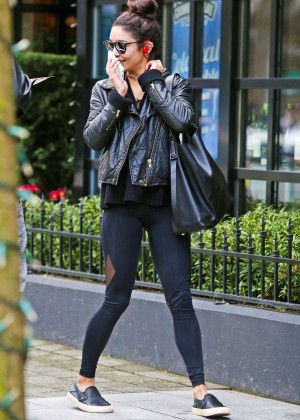 Vanessa Hudgens in Tights out in Vancouver