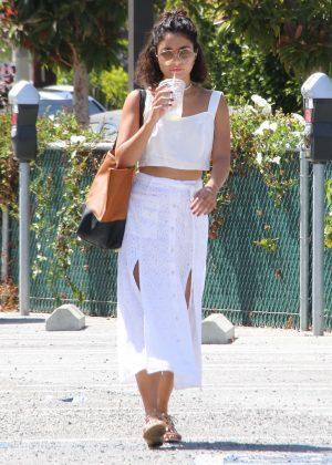 Vanessa Hudgens in White Dress in Venice