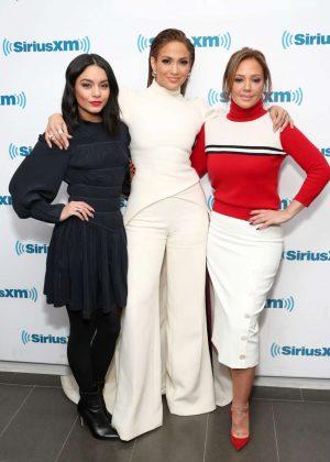 Vanessa Hudgens, Jennifer Lopez and Leah Remini at SiriusXM Studios in NYC