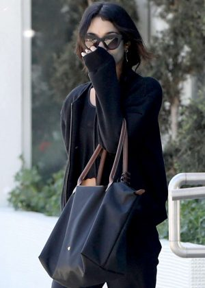 Vanessa Hudgens - Keeps her face covered in LA