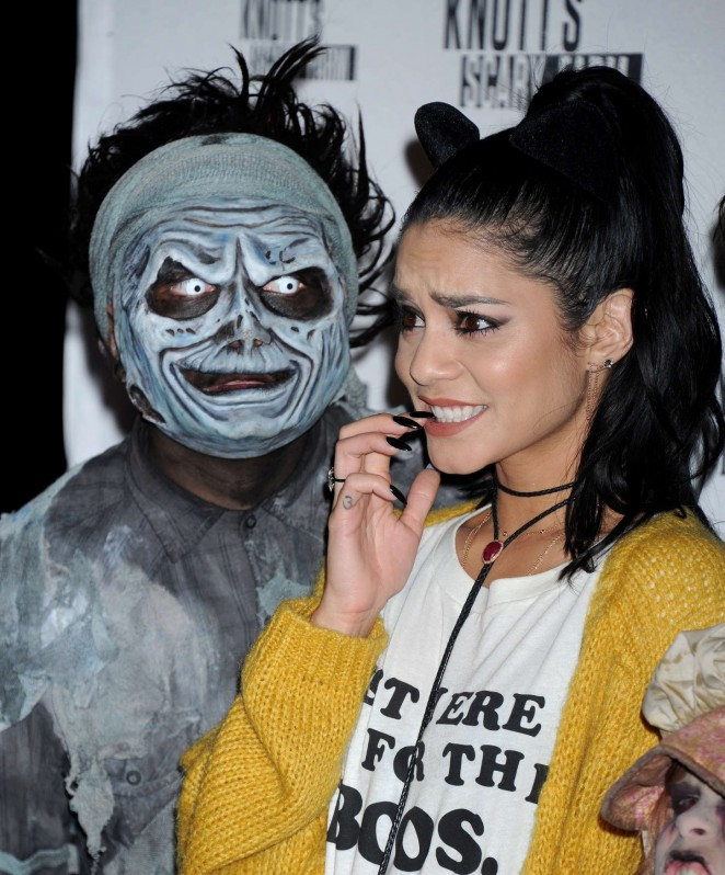 Vanessa Hudgens - Knott's Scary Farm Black Carpet in Buena Park
