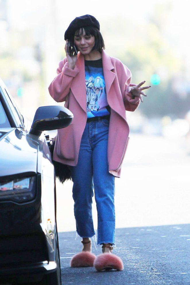 Vanessa Hudgens - Leaves a meeting in LA