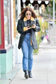 Vanessa Hudgens - Leaves a restaurant in Studio City