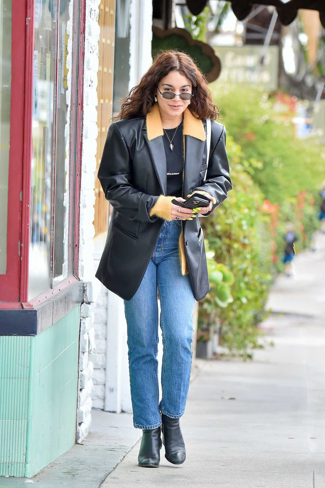 Vanessa Hudgens 2020 : Vanessa Hudgens – Leaves a restaurant in Studio City-03