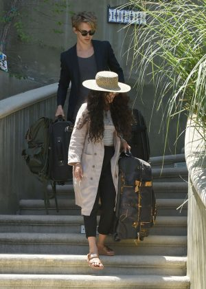 Vanessa Hudgens leaves her home in LA