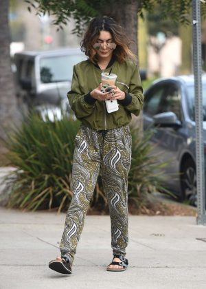 Vanessa Hudgens Leaves pilates in Los Angeles