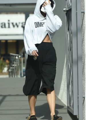 Vanessa Hudgens - Leaves Pilates in Los Angeles