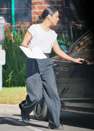 Vanessa Hudgens - Leaves the studio in Los Angeles