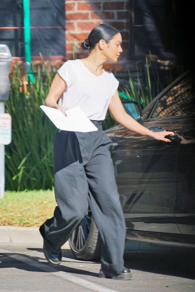 Vanessa Hudgens – Leaves the studio in Los Angeles