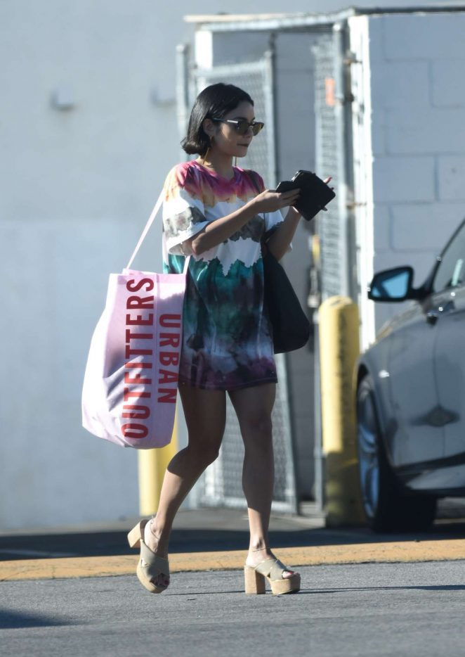 Vanessa Hudgens - Leaves Urban Outfitters in LA