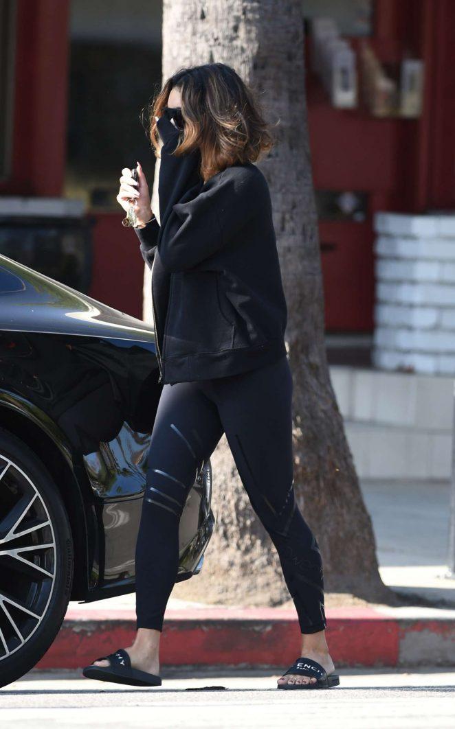 Vanessa Hudgens – Leaving a Pilates Class in Los Angeles