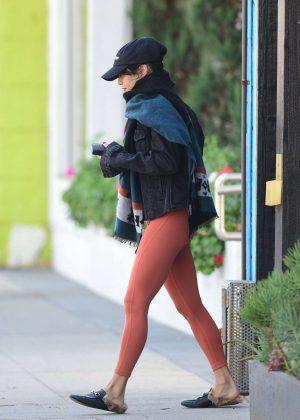 Vanessa Hudgens - Leaving a pilates class in Studio City