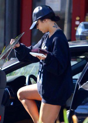 Vanessa Hudgens - Leaving a Yoga Class in Studio City