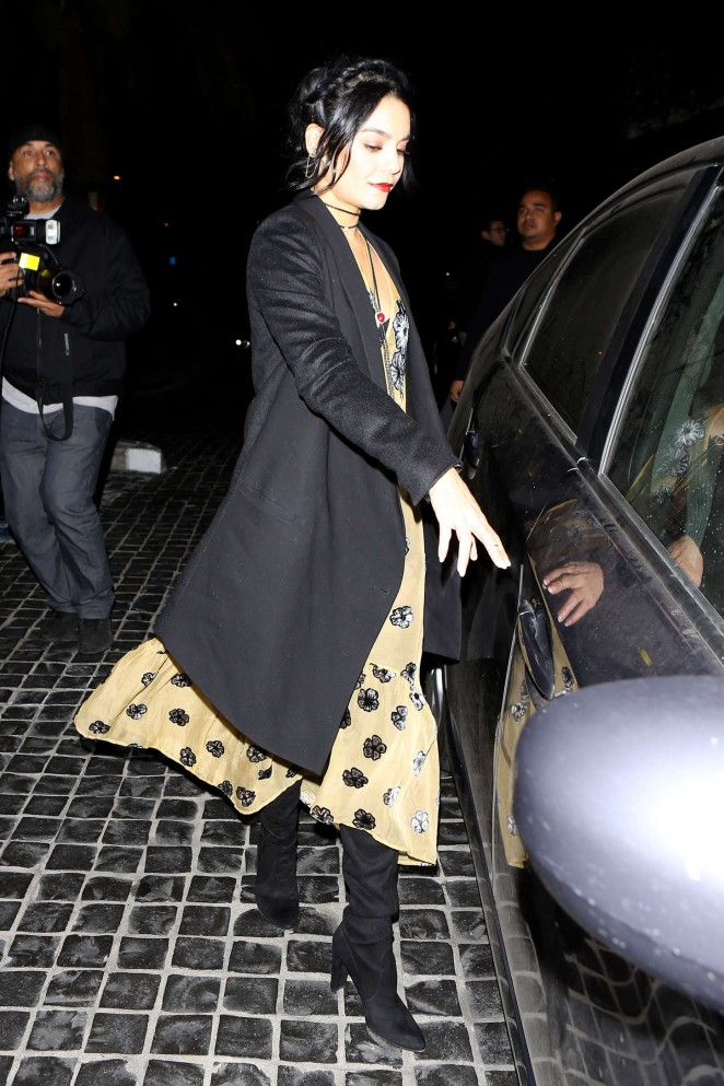 Vanessa Hudgens - Leaving Cecconi's Restaurant in LA