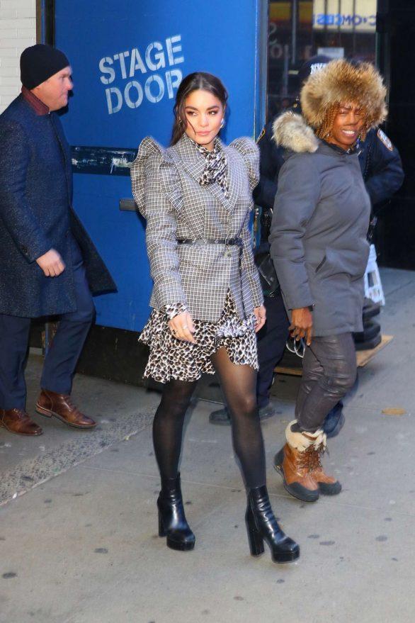 Vanessa Hudgens - Leaving Good Morning America in New York