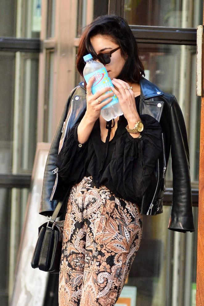 Vanessa Hudgens - Leaving her apartment in Soho