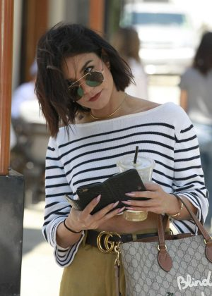 Vanessa Hudgens - Leaving Nine One Zero Salon in LA