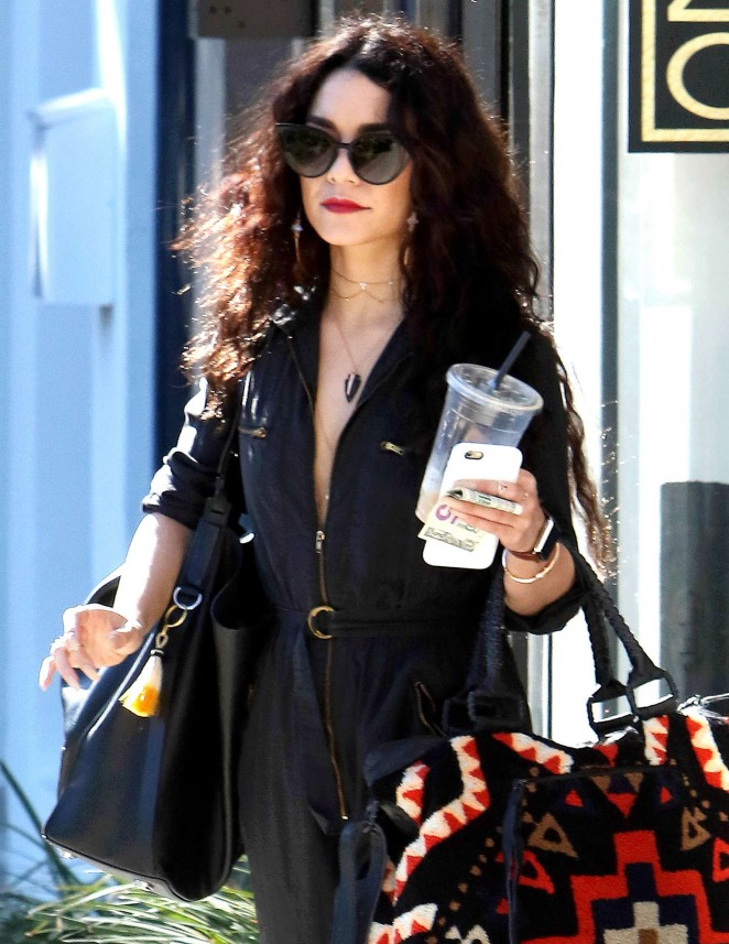 Vanessa Hudgens - Leaving Nine Zero One Salon in West Hollywood