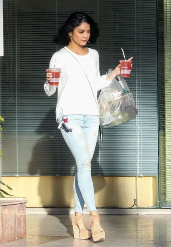 Vanessa Hudgens in Jeans Leaving Ralph's in LA