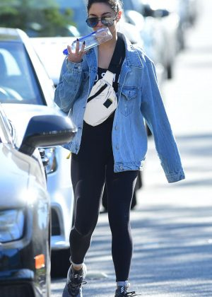 Vanessa Hudgens - Leaving the gym in Los Angeles