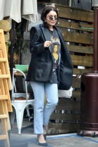 Vanessa Hudgens looks casual while leaving breakfast in Los Feliz