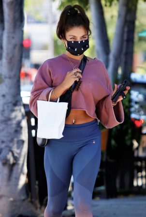 Vanessa Hudgens - Looks sporty after her workout in West Hollywood