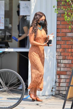 Vanessa Hudgens - Looks Stylish in a maxi dress in Los Angeles