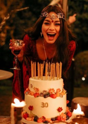 Vanessa Hudgens on Her Birthday – Social Media Pic