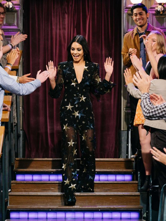 Vanessa Hudgens on 'The Late Late Show with James Corden' in Los Angeles