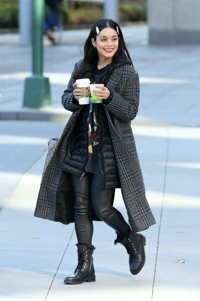 Vanessa Hudgens – On the set of 'Second Act' in NYC