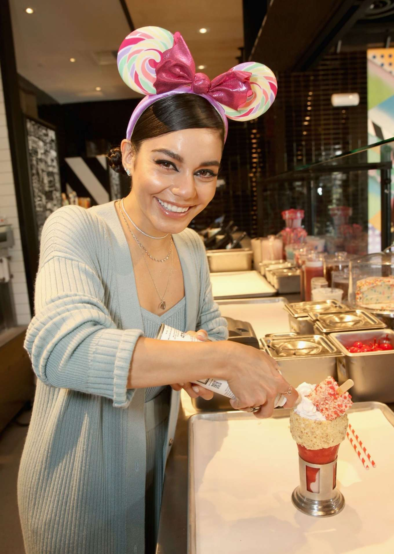 Vanessa Hudgens - Opening of Black Tap Craft Burgers and Shakes in Anaheim