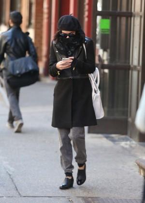 Vanessa Hudgens in Black Coat -02