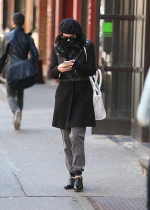 Vanessa Hudgens in Black Coat -03