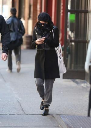 Vanessa Hudgens in Black Coat -06