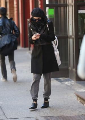 Vanessa Hudgens in Black Coat -12
