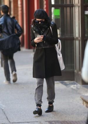 Vanessa Hudgens in Black Coat -13