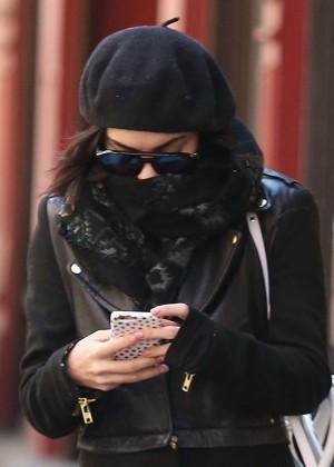 Vanessa Hudgens in Black Coat -15