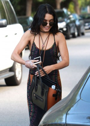 Vanessa Hudgens in Long Dress out in Studio City