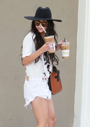 Vanessa Hudgens in Short Shorts Out in West Hollywood