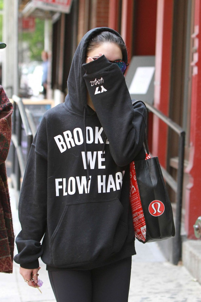 Vanessa Hudgens in Spandex out in NYC