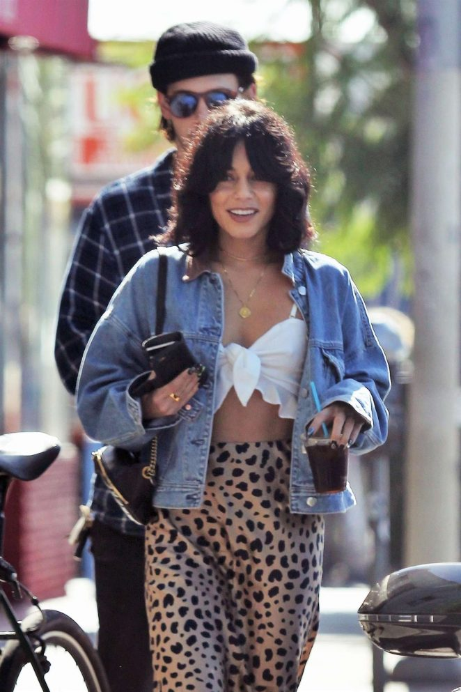 Vanessa Hudgens - Out for coffee in Los Angeles