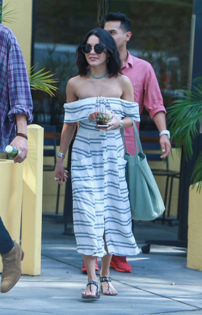 Vanessa Hudgens - Out for lunch in West Hollywood