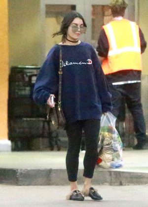 Vanessa Hudgens out grocery shopping at Ralph's in Studio City