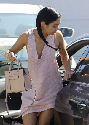 Vanessa Hudgens in Short Dress out in LA