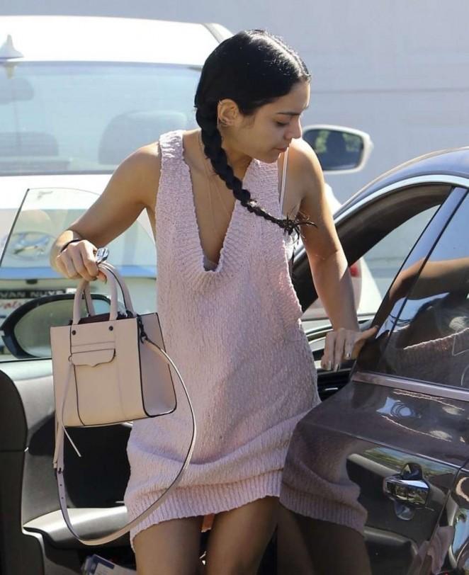 Vanessa Hudgens in Short Dress out in LA