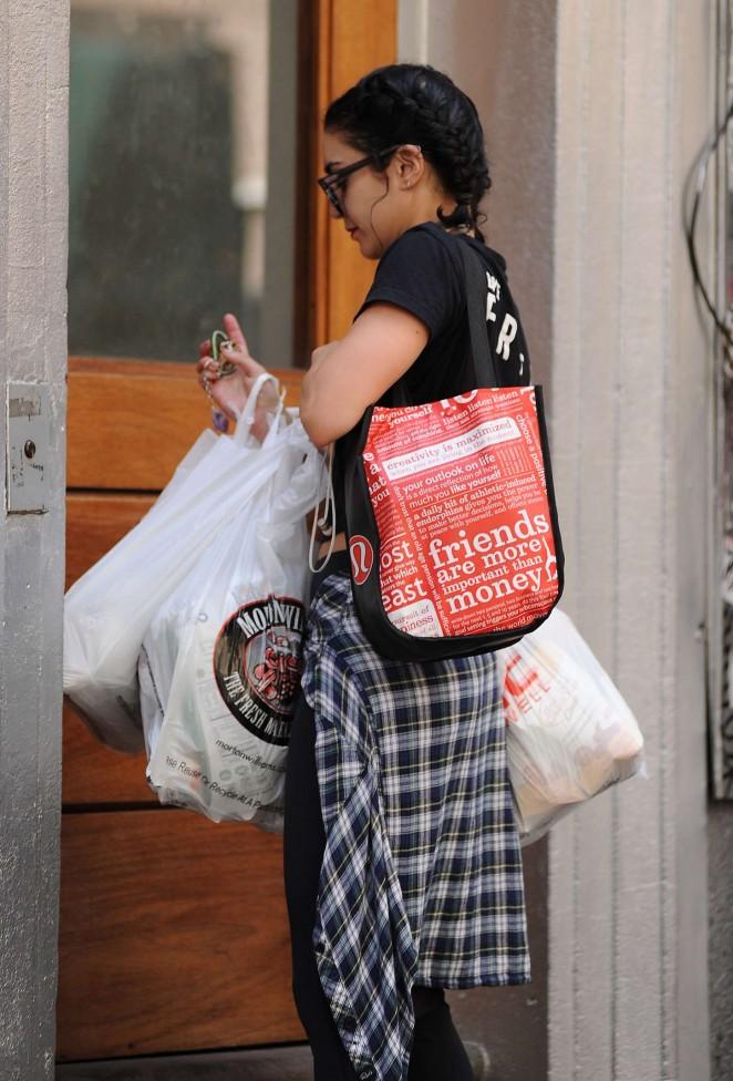 Vanessa Hudgens out in Soho