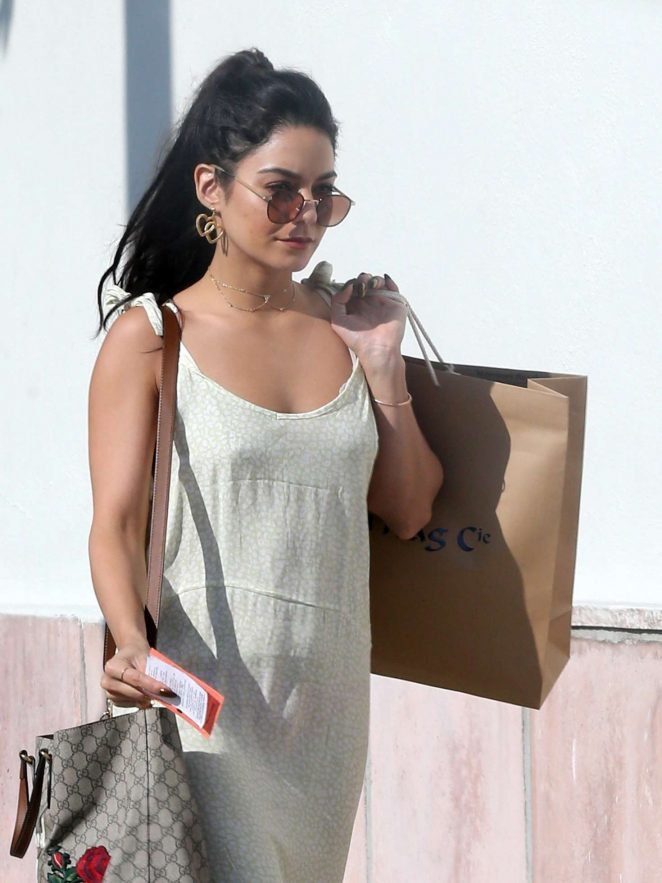 Vanessa Hudgens out shopping in Hollywood