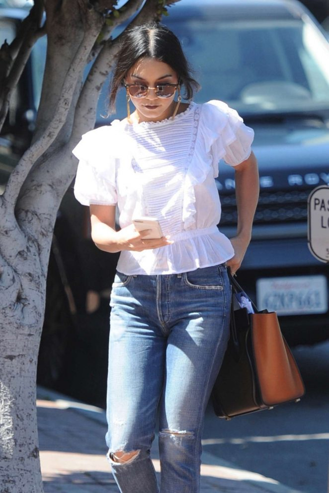Vanessa Hudgens out shopping on Melrose Place in LA