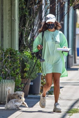 Vanessa Hudgens - Out with her dog Darla in Los Feliz